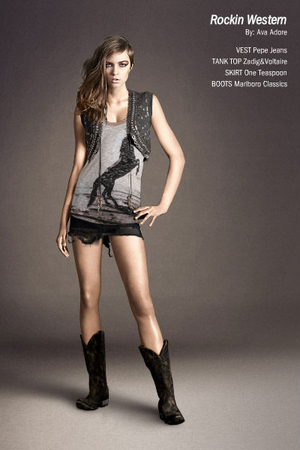 silver Zadig & Voltaire top - gray Pepe Jeans vest - black One Teaspoon skirt -
