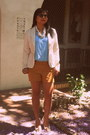 Canvas-material-gap-blazer-polk-dots-old-navy-shorts