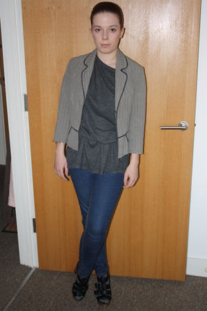 black French Connection shoes - Topshop jeans - Miss Selfridge jacket