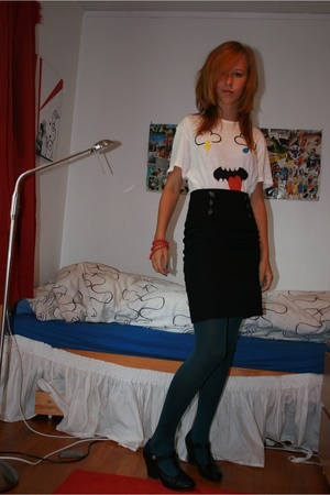 lindex skirt - Levis t-shirt - lindex tights - bracelet
