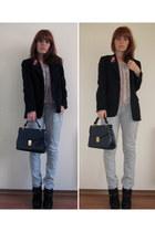 DKNY blazer - vintage bag - H&M blouse