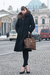 Blue-jacket-brown-dress-brown-tights-brown-gloves-black-shoes-black-pu