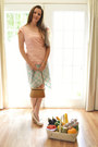 Brown-woven-basket-unknown-brand-purse-aquamarine-custom-made-shorts