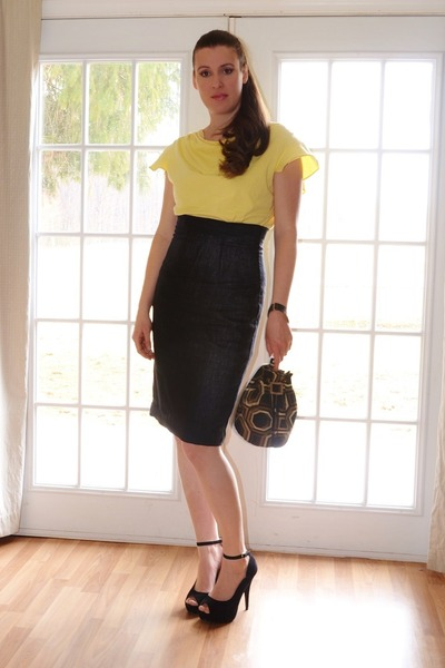 black made by me skirt - tawny made by me bag