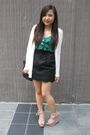 White-forever-21-cardigan-green-urban-outfitters-top-black-urban-outfitters-