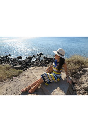maxi dress Primark dress - ostrich asos belt - necklace Forever 21 accessories