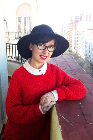 Zara jumper - Massimo Dutti hat - H&M blouse