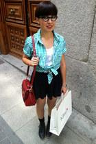 H&M Man shirt - Zara boots - Bimba y Lola bag - H&M shorts