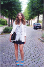 White-rené-lézard-blazer-black-chloe-bag-light-blue-emporio-armani-blouse