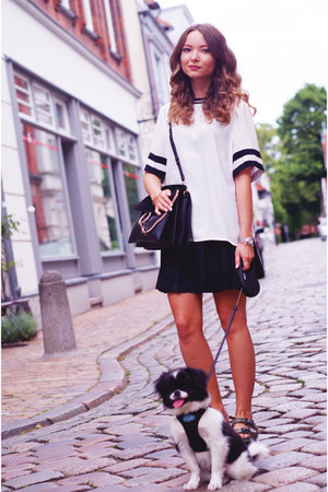 black Chloe bag - white H&M shirt - black Zara skirt