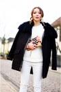 Black-givenchy-boots-black-maje-jacket-white-zara-sweater-gucci-purse