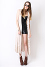 Maxi-waistcoat-yayer-modern-dress-black-leather-yayer-vintage-shorts-jeffrey