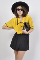 yellow Yayer Vintage shorts - black Yayer Vintage bag