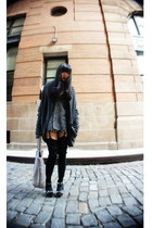 gray necessary clothing sweater - silver Bottega Veneta bag - black Urban Outfit