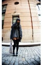 gray necessary clothing sweater - silver Bottega Veneta bag - black Urban Outfit