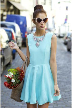 mini dress Yoins dress - toe heels Yoins heels