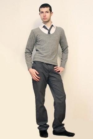 Misaky shirt - Npfeel sweater - Hanjiro tie - Sisley pants