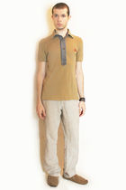 beige vivienne westwood shirt - beige H&M pants - brown H&M shoes - brown H&M ac