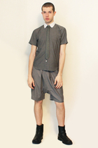 Hanjiro shirt - Hanjiro tie - shorts - boots