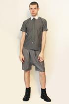 Hanjiro shirt - Hanjiro tie - shorts - boots
