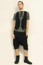 Hanjiro shirt - Sisley vest - vintage from etsy tie - pants - boots
