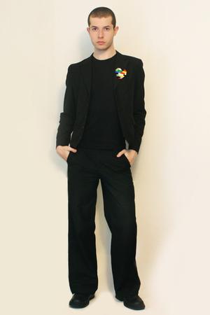 t-shirt - Npfeel jacket - Misty Boy Harajuku Tokyo pants - Handmade Lego Pin acc