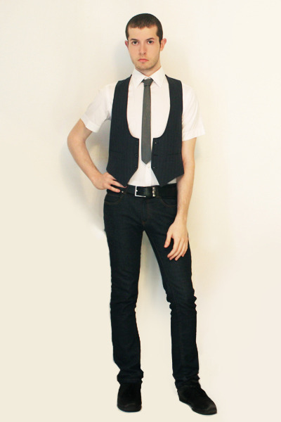 Zara shirt - Hanjiro vest - Hanjiro tie - Zara jeans
