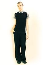 gray Comme des Garcons shirt - black vest - black Misty Boy Harajuku pants - bla