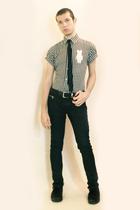 Comme des Garcons shirt - Npfeel tie - Zara pants