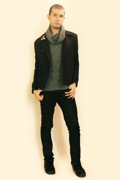 Npfeel jacket - Npfeel sweater - Zara pants - belt - Code GeassToki Doki Pins ac