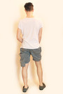 White-vivienne-westwood-t-shirt-sky-blue-vivienne-westwood-shorts-heather-gr