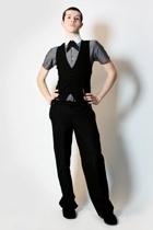 Hanjiro shirt - Sisley vest - Misty Boy Harajuku Tokyo pants - handmade tie