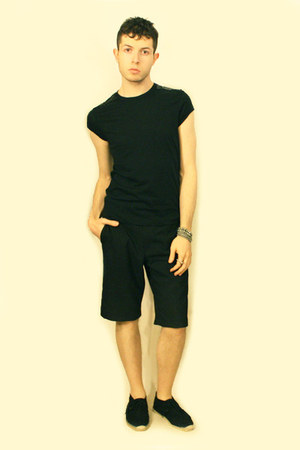 silver Topman bracelet - black Topman shoes - black Vintage from London shorts