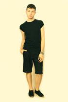 silver Topman bracelet - black Topman shoes - black Vintage from London shorts