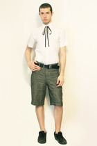 Zara shirt - Hanjiro tie - shorts - belt - shoes