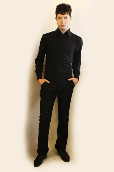 Men's Black Zara Shoes, Black Misaky Shirts, Black Sisley Pants ...