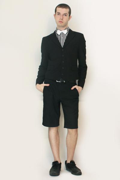 Comme des Garcons shirt - Npfeel jacket - Vintage from London shorts - shoes - b