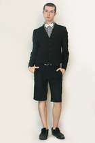Comme des Garcons shirt - Npfeel jacket - Vintage from London shorts - shoes - b