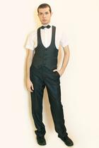 Zara shirt - Harajuku vest - H&M tie - Zara pants - shoes