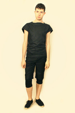 black Topman shoes - black Deepstyle leggings - black Deepstyle shorts