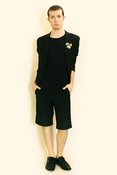black Npfeel t-shirt - black Npfeel jacket - black Vintage from London shorts -