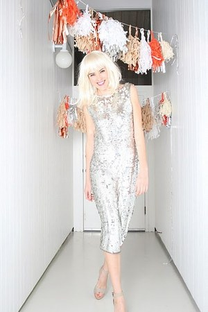 silver sequin YO VINTAGE dress