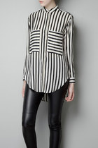 Stripe long sleeve blouse Chiffon top shirt final clearance ghl0153