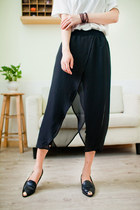 Black Summer Chiffon Pants YRB0115