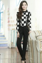 Jumpsuit with Matching Polka Dot Blouse Set YRB0647