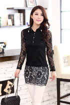 Lace bodycon top dress long sleeve ghl1030