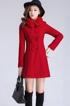 Cashmere Winter Korean Coat Fur Collar YRB0374