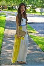 tan bcbg BCBG heels - navy haus131 Haus131 dress