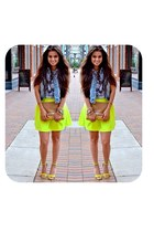 yellow neon skirt Tobi skirt - tan Madly-yours purse