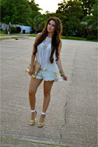 eggshell zara Zara shorts - off white haus131 Haus131 shirt